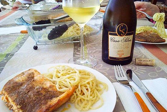 Almuerzo para acompañar el Casa Silva Lolol Viognier 2007