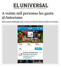 Nota en El Universal