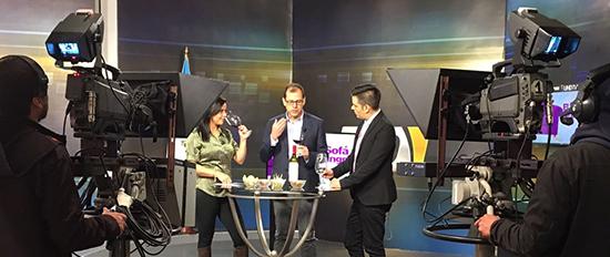 Participación en Telediario Canal 3 Guatemala